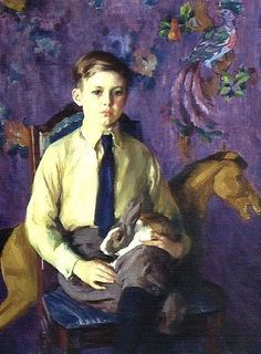 "huariqueje: ""  Portrait of Charles Ballard as a Boy - Ivan Gregorovitch Olinsky 1925 American 1868-1972 Oil on canvas """