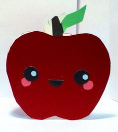 Handmade Kawaii Apple Car  Cardstock by justcreativecards on Etsy, $3.50