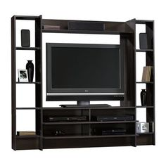 Home entertainment center wall system wood tv stand media console furniture Home Entertainment Centers, Contemporary Entertainment Center, Home Entertainment Furniture, Entertainment System, Console Furniture, Media Furniture, Living Room Furniture, Furniture Decor, Furniture Storage