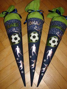 """Schultüten - Fußballschultüte """"Kicker, grün"""" - ein Designerstück von Zuckerhexe bei DaWanda"""