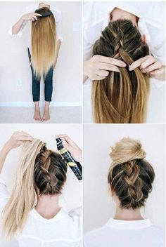 10 Easy Hairstyles To Mix It Up Easy Hairstyles For School, Easy Hairstyles For Long Hair, Trendy Hairstyles, Wedding Hairstyles, Easy Hairstyles For Everyday, Graduation Hairstyles, Modern Haircuts, Black Hairstyles, Diy Hairstyles