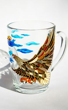 Bald Eagle Mug, Custom Coffee Mug, Eagle Art Bird Painting Patriotic Decor