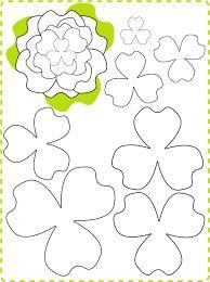Resultado de imagen para moldes flores de papel