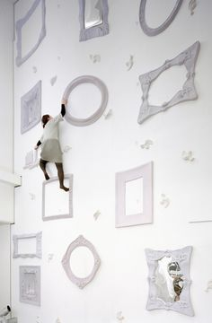 """Creative and unusual climbing wall designed by Japanese company Nendo for Illoiha fitness club in Tokyo's fashion district."" Toxel.com"