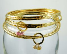Stacking bracelet set Gold bangle set gold stackable bracelets by AyalaVitkon on Etsy https://www.etsy.com/listing/190794577/stacking-bracelet-set-gold-bangle-set