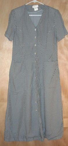 Apart Black and White Rayon Dress Size 4 Free Shipping in the USA