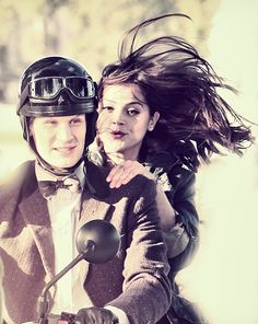 Matt Smith as the Eleventh Doctor and Jenna-Louise Coleman as Clara Oswin Oswald