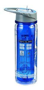 Vandor 16075 Doctor Who Tritan Water Bottle, 18-Ounce, Multicolored from Vandor Disc: Affiliate Link