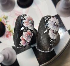 New Ideas nails art flowers edel – Anziehsachen Flower Nail Designs, Flower Nail Art, Nail Art Designs, Art Flowers, Art Deco Nails, 3d Nails, Nail Art Hacks, Beautiful Nail Designs, Beautiful Nail Art