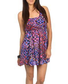 Tank Challis Print Dress