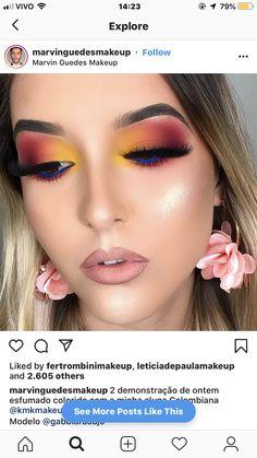 Makeup Eye Looks, Eye Makeup Art, Eyeshadow Makeup, Beauty Makeup, Hair Makeup, Eyeshadows, Gorgeous Makeup, Love Makeup, Makeup Inspo