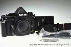 NIKON Df Body Black 16.2 MP Digital Camera Excellent #Nikon