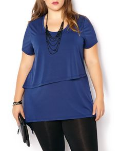 Shop Penningtons for stylish plus size clothes & trendy fashions: sizes 14 to 32 in tops, bottoms, jeans, lingerie, activewear & wide width shoes & boots. Trendy Plus Size Fashion, Stylish Plus, Plus Size Outfits, Trendy Outfits, Asymmetrical Design, Night Looks, Black Pants, Night Out, Style Me