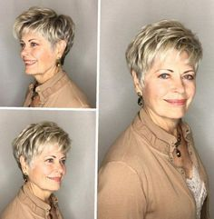 Feathered Blonde Pixie For Older Women hair styles for women over 60 chic 60 Best Hairstyles and Haircuts for Women Over 60 to Suit any Taste Hairstyles Over 50, Pixie Hairstyles, Short Hairstyles For Women, Cool Hairstyles, Short Haircuts, Everyday Hairstyles, Asymmetrical Hairstyles, Latest Hairstyles, Hairstyles 2018