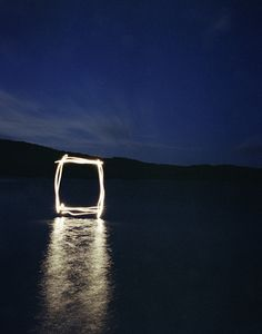 beautiful light interventions, illuminated landscapes by Marian Drew
