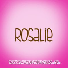 Rosalie  (Voor meer inspiratie, en unieke geboortekaartjes kijk op www.heyboyheygirl.nl)