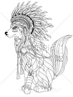 lovely wolf coloring page - Arts - Totallypic