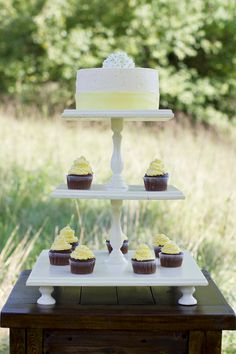 Three Tiered Square Wooden Cupcake Stand love the idea to make this with old furniture