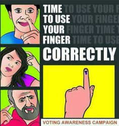Use finger correctly...