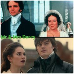 Pride nad prejudice (1995) Colin Firth and Jennifer Ehle Pride and prejudice and zombies (2016) Sam Riley and Lily James