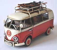 Collectable Classic Metal Scale Model of a Volkswagen Camper Van Volkswagen Bus, Vw Camper, Vw Hippie Van, Wooden Toy Trucks, Tree Furniture, Painted Rocks Craft, Rock Crafts, Go Kart, Antique Items