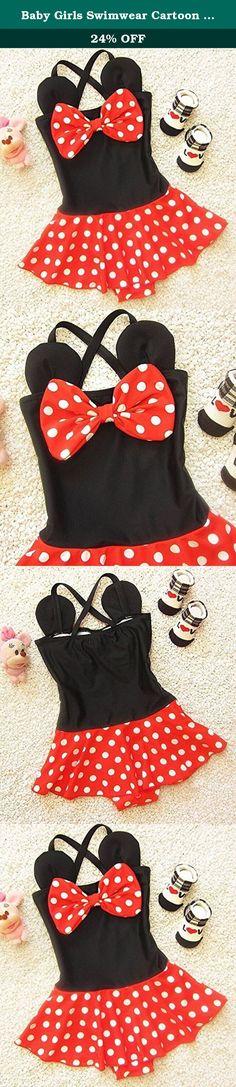 Baby Girls Swimwear Cartoon Tutu Skirt Swimsuit Swimwear Bathing Bikini 3-4T Red. Baby Girls One Piece Polka Dots Bowknot Swimwear Bikini Swimsuit.