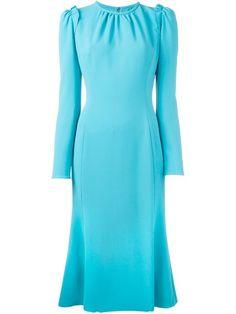 DOLCE & GABBANA Flared Hem Midi Dress. #dolcegabbana #cloth #dress