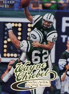 RARE 1999 FLEER ULTRA WAYNE CHREBET NEW YORK JETS MINT