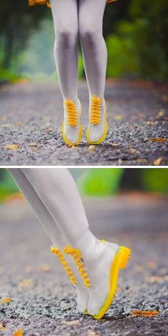 Jelly Yellow Rubber Rain Boots ♡ #cute #love #want
