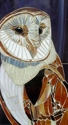 Effraie des clochers mosaïque Card  carte de par LAMosaicGifts