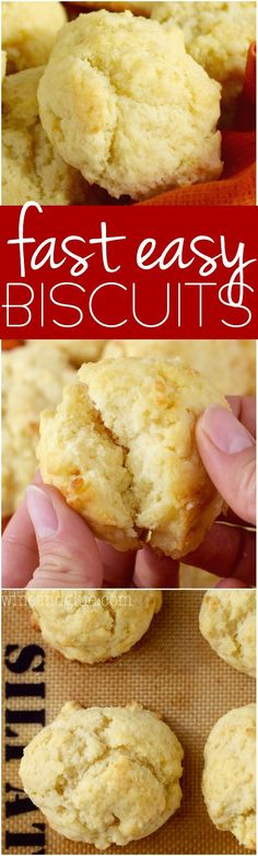 These Fast Easy Biscuits are seriously delicious and they really do come together in a SNAP! They are going to be your new go to.
