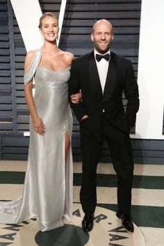 Rosie Huntington‐Whiteley and Jason Statham attend Vanity Fair's Oscar Party at the Wallis Annenberg Center for the Performing Arts in  Beverly Hills on Feb. 26, 2017.