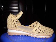 P1.1 How to crochet the sandal by Raffia Yarn - Hướng dẫn móc dép bằng sợi cọ Raffia - YouTube