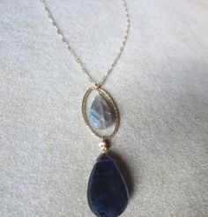 Amethyst & Labradorite Pendant by HalliesComet on Etsy Labradorite, Amethyst, Artisan, Pendant Necklace, Gemstones, Etsy, Jewelry, Jewlery, Gems