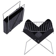 FOLDABLE BBQ GRILL CHARCOAL PORTABLE FOLDING FLAT PACK CAMPING OUTDOOR GARDEN