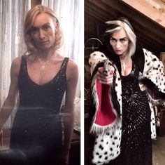 Cruella, before and after