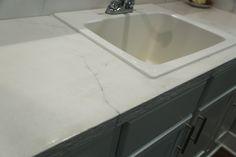 Granicrete Minnesota.  Custom residential bathroom counter top and back splash.