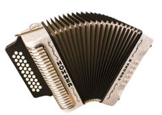 Hohner Corona III GCF, Pearl White by Hohner. $1477.00. The Corona III is 3-voice tremolo best suited for Vallenato, Cumbia, and Merengue playing styles.
