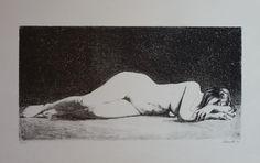 Schwartz, litografia ležiaci akt, 1971, rámovaný, rozmer tlače 50x25 cm Painting, Painting Art, Paintings, Painted Canvas, Drawings