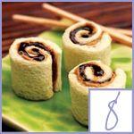 cooking with kids- pbj sushi rolls! Fun for kids