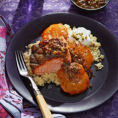 ... Mediterranean Recipes: Salmon with Apricots, Yogurt & Pistachio Sauce