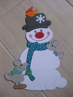 Pin by gosia socha on dekorka Christmas Yard Art, Diy Christmas Cards, Holiday Crafts, Christmas Decorations, Frog Crafts, Preschool Crafts, Diy And Crafts, Cardboard Crafts, Paper Crafts