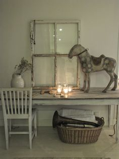 Office Space Whitewashed chippy shabby chic french country rustic swedish decor Idea