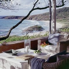 overlooking the sea in the Grenadines on the Island of Mustique.