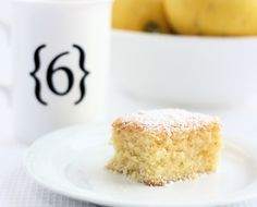 Lemon and Coconut Slice - A Spoonful of Sugar