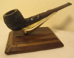Vintage Real Briar Straight Rustic Apple Style Estate Briar Tobacco Smoking Pipe
