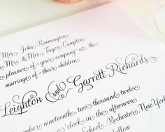 Wedding Invitation  Fairytale Script  Deposit by shineinvitations, $100.00