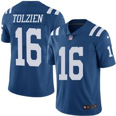 d06f31cda Youth Nike Indianapolis Colts  16 Scott Tolzien Limited Royal Blue Rush NFL  Jersey
