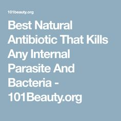 Best Natural Antibiotic That Kills Any Internal Parasite And Bacteria - 101Beauty.org