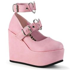 Demonia POISON-99-2 Shoes Pink | Angel Clothing #platformpumpsclassy #platformpumpsbeige #platformpumpsheels #maryjaneplatformpumps #platformpumpspeeptoe #platformpumpsanklestraps Dr Shoes, Me Too Shoes, 2 Baby, Plateau Pumps, Kawaii Shoes, Pink Wedges, High Ankle Boots, High Heels, Heel Boots
